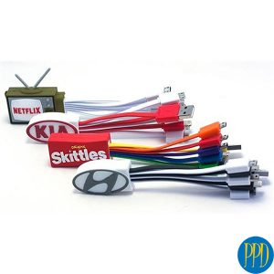 custom multi cables with logo for New York and New Jersey business and promotional product marketers.